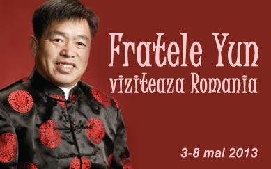 Fratele Yun vine in Romania - 3-8 mai 2013