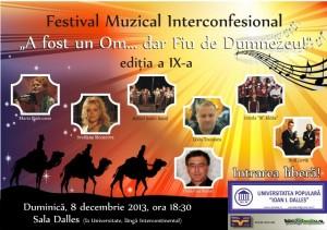 """""""A fost un Om... dar Fiu de Dumnezeu"""" - Festival Muzical Interconfesional, editia a IX-a"""
